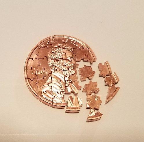 Copper Penny Puzzle (32 Pieces) - 1oz .999 Copper