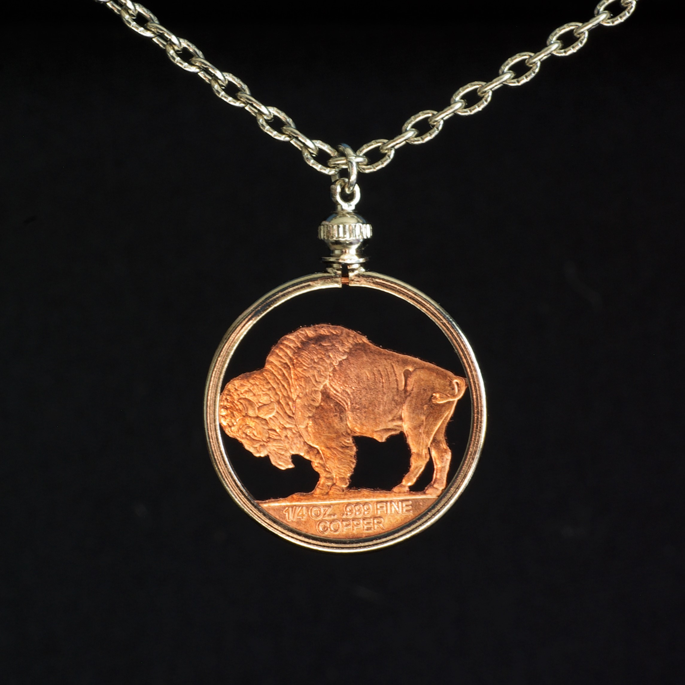 Copper Buffalo Coin