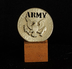 Army Coin with raised eagle