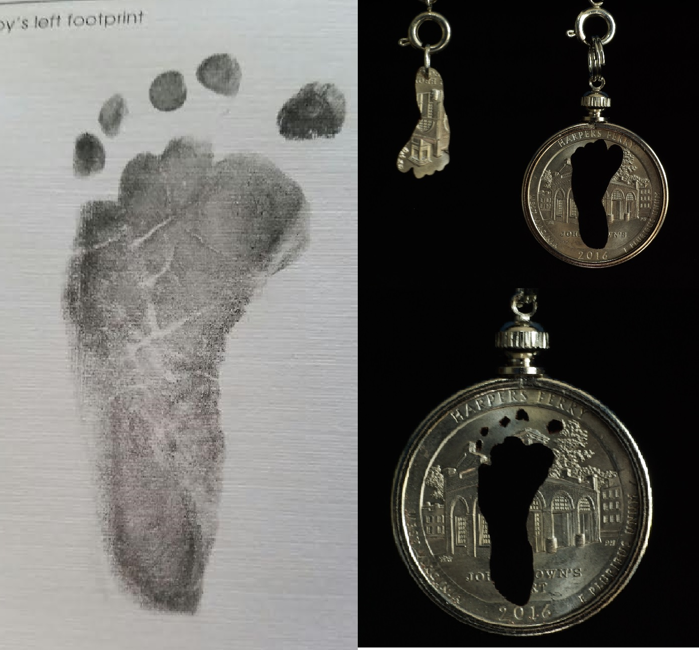 footprint - Kallie's foot