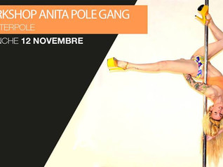 Workshop Pole Dance & Stretching Marseille // Dimanche 12 novembre // Anita du POLE GANG