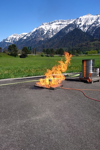 gaskartuschen explosion / gas gartridge