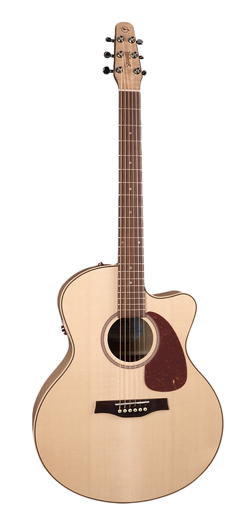 Seagull PERFORMER CUTAWAY MINI-JUMBO FLAME MAPLE QIT A/E Guitar