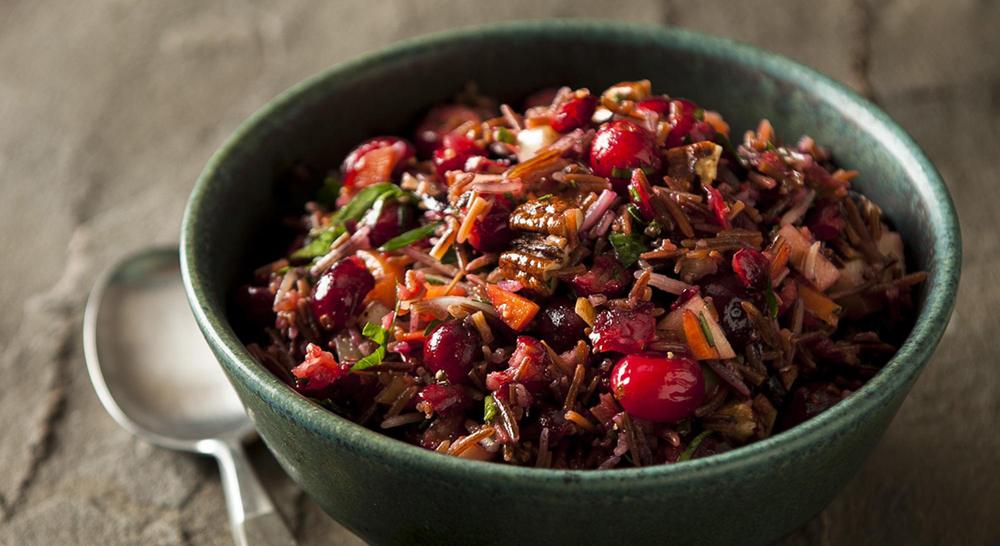 Red Rice Cranberry Pecan Salad