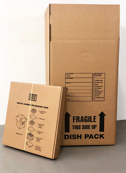 Dish Pack Box & Partition Kit