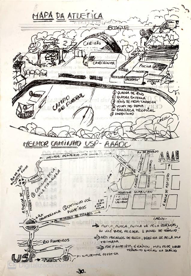 Mapa da Atlética Carramão