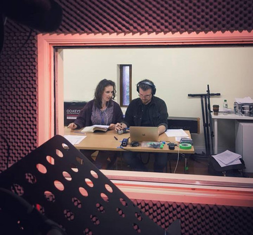 Roseanne and Richard during the recording session.