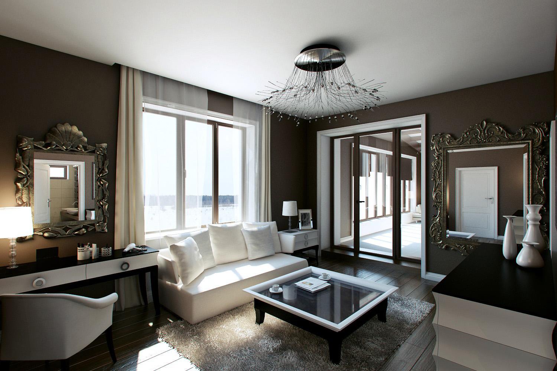 Interior of boudoir