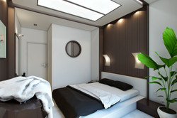 Interior of guest bedroom