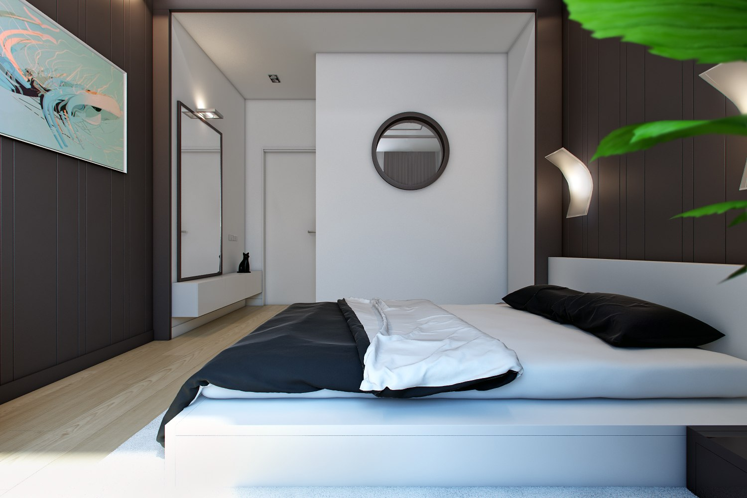 Interior of guest bedroom