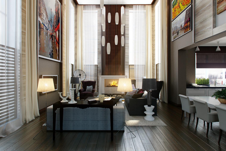Interior of loft