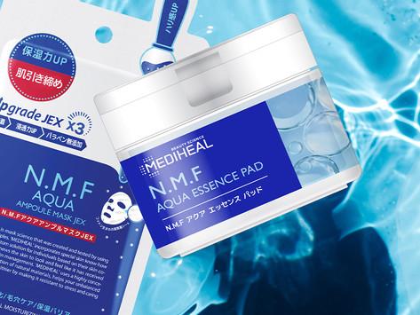 N.M.Fアクアマスクの美容液を贅沢にたっぷり!手軽に角質・毛穴汚れオフ! デュアルピーリングパッド
