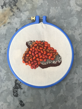 Embroidery done with kit