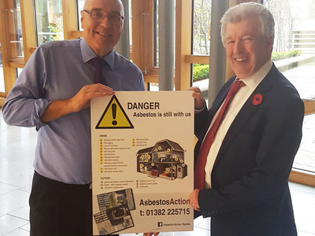 Asbestos Action highlight dangers of asbestos to Scottish MSPs