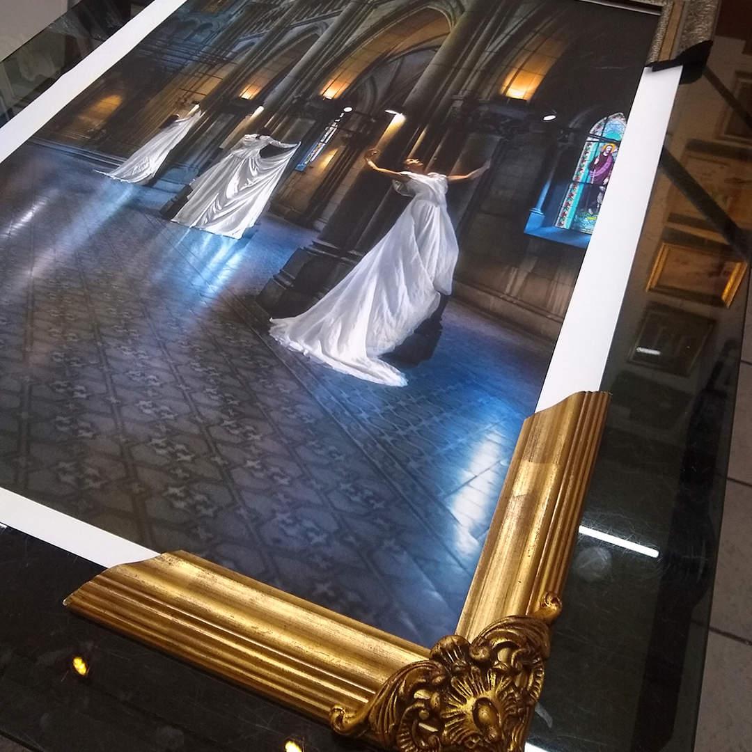 impresión en canvas con laca UV