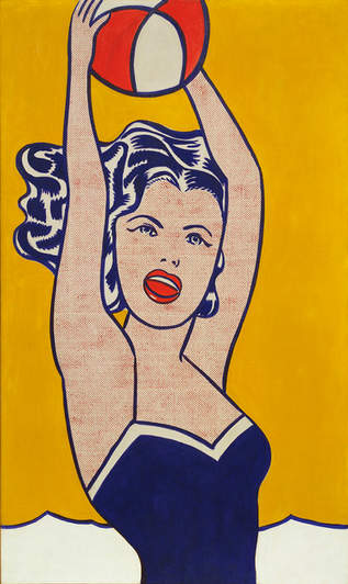 Roy Lichtenstein - Girl with Ball
