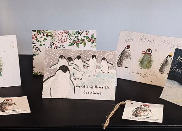 Christmas seed cards and Gift tags