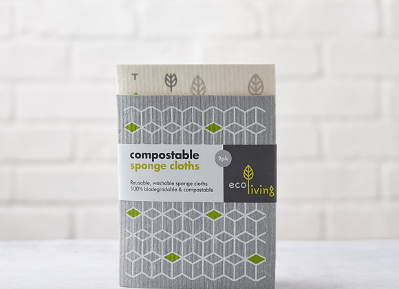 Compostable Sponge Cloths- 2Pack