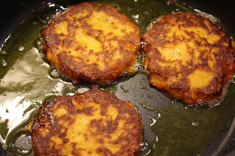 Sönkes Süßkartoffeln vegetarische Süßkartoffel-Bratlinge