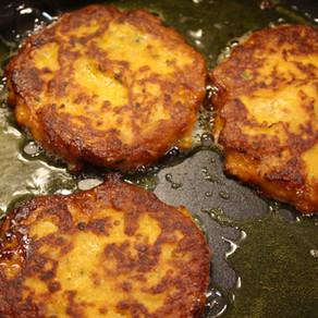 Vegetarische Süßkartoffel-Bratlinge