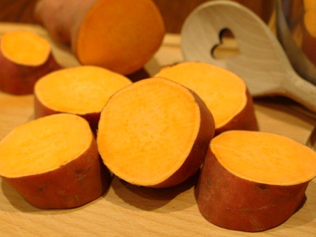 Gekochte (Pell-)Süßkartoffeln