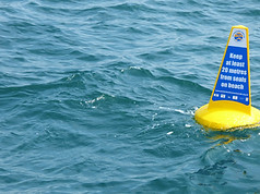 Marine Code buoy for protecting wildlife