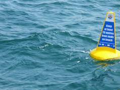 Marine Code buoy for protecting wildlife