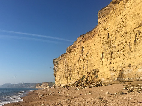 Cliff fall at West Bay