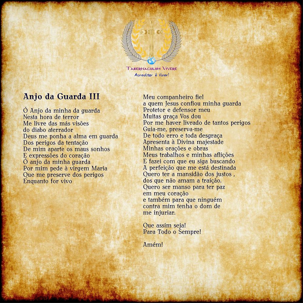 """""""Oração Ao Anjo Da Guarda III"""""""