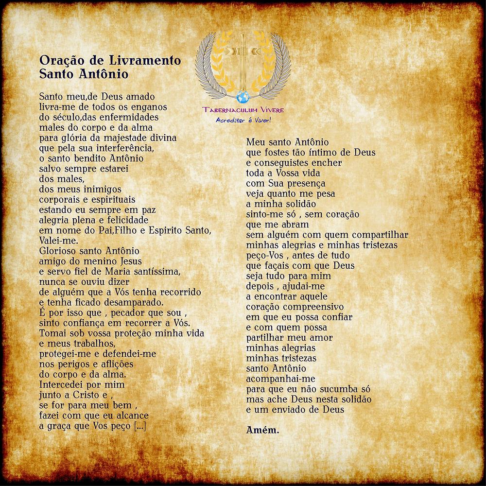 """""""Oração de Livramento   Santo Antônio"""""""