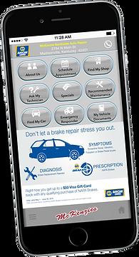 Napa autocare app on phone