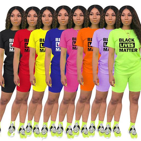 BLM Shirt & Shorts Set