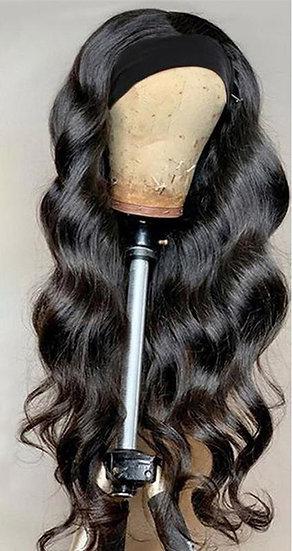 Human Hair BODYWAVE Headband Wig