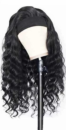 Human Hair LOOSE DEEP WAVE Headband Wig