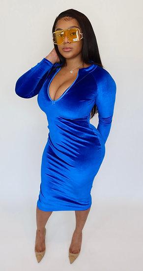 Who You Velvet Longsleeve Dress