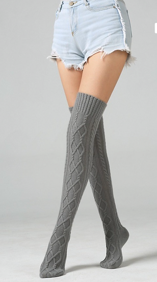 Knitted Thigh High Socks