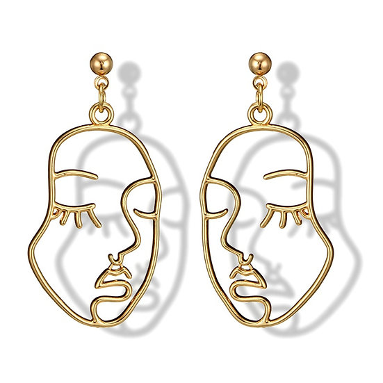 Beautiful Face Earrings