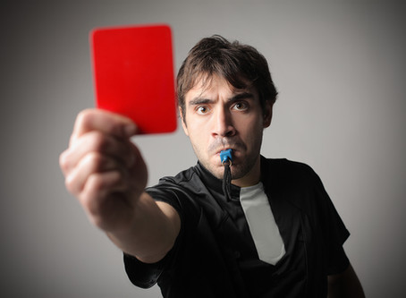 Give your weakness the Red Card