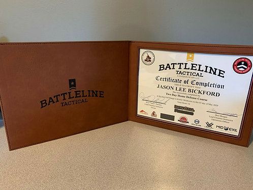 Battleline Tactical - Course Certificate Display