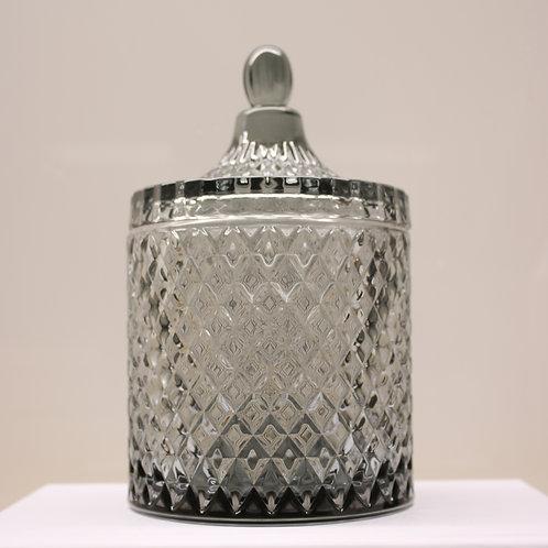Smoked Grey XLarge Geo Candle