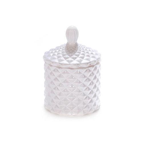 Gloss White Baby Geo Candle