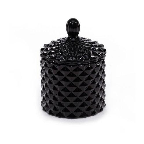 Gloss Black Baby Geo Candle