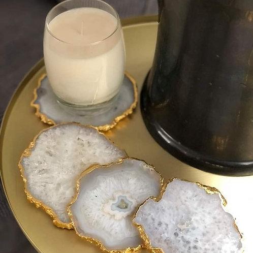 Agate Crystal Coasters