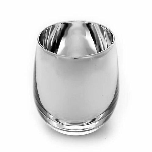Silver Stemless Candle