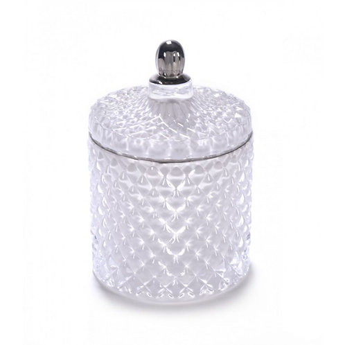 White Royal Geo Candle