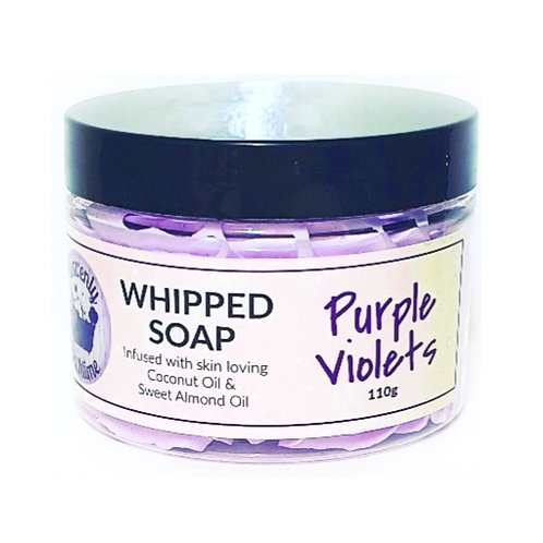 Purple Violets Whipped Soap