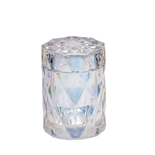 Pearlescent Diamond Candle