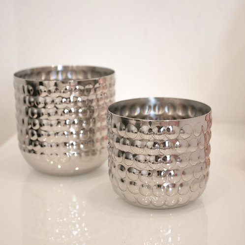 Large Silver Bobble Candle