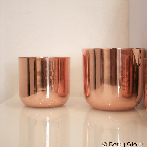 Medium Smooth Copper Candle