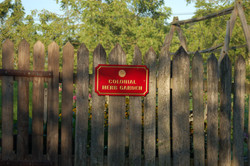 Colonial Garden Sign